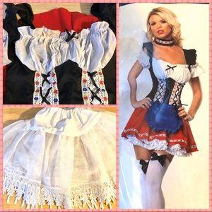 Frisky Frauline Costume Kit - Entire Outfit! Sz. M